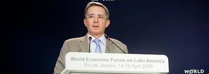 Álvaro Uribe, presidente de Colombia