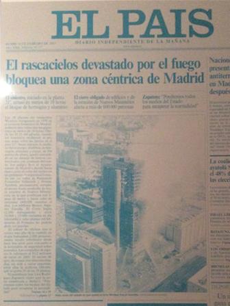 Portada diario El País