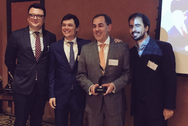 De izda a dcha. Juan Carlos Gozzer, Adolfo Corujo, Marco Antonio Sabino y Thyago Mathias