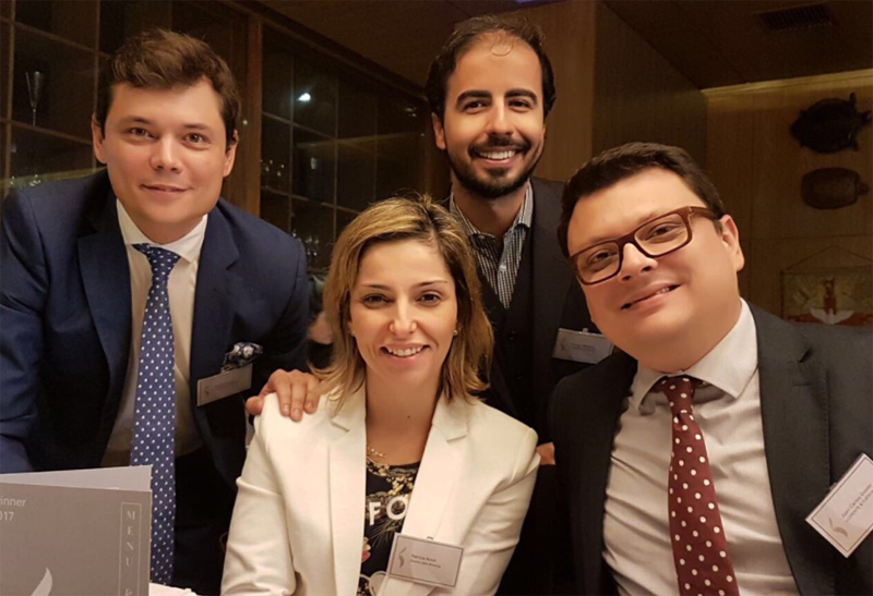 De izda a Dcha. Adolfo Corujo, Patricia Acioli, Thyago Mathias y Juan Carlos Gozzer